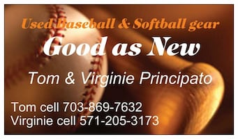 Good as New baseball and Softball gear