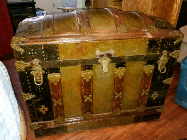 1879 Steamer Trunk.  9c52c8ec-6b49-4afe-9575-cd8499d368c2