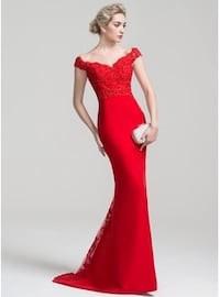 Glamorous Red Trumpet/Mermaid dress. New Never used!  Size 10.  Great quality! Long Beach, 90804