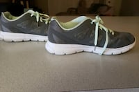 Grey and real running shoes. Size 11.
