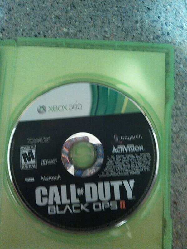 Call of Duty Black Ops 2 Xbox 360 game disc