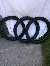 3 front mx tires 10.00 each in gd shape   Revere, 02151