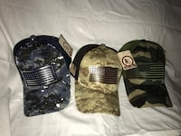 3 Brand New Camo hats Stockton, 95219