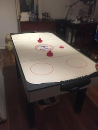 White and black air hockey table Toronto, M4A 1L2