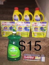Gain and Tide detergent bottles Greensboro, 27406
