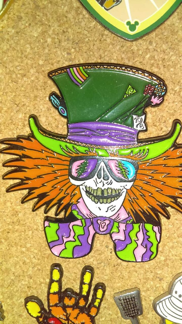 Used 2 Greatfuldead Mad Hatter Hat Pin For Sale In Erie Letgo