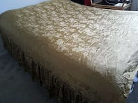 Bed cover and 2 curtains, just steam or iron Bethesda