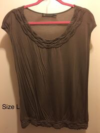 Taupe Top, Size L