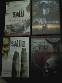 three assorted DVD movie cases Guelph, N1G 1J5