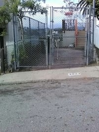 \gray metal chain gate fence Los Angeles, 90032