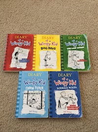 five Diary of a Wimpy Kid books Frederick, 21704