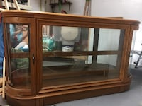 Brown wooden framed glass cabinet Jessup, 20794
