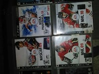 six assorted PS3 game cases Surrey