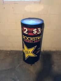 Black Rockstar Energy drink beverage chiller Indianapolis, 46201