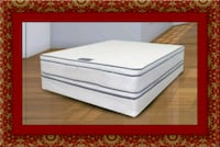 Queen mattress double pillowtop with box Prince George's County