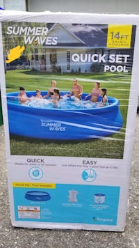 New summer waves 14ft x 36 inches quick set inflatable pool