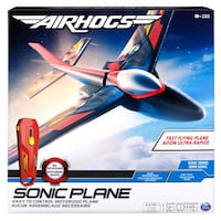 New Air Hogs - Sonic Plane High-Speed Flyer with Real Motor Sounds Silver Spring
