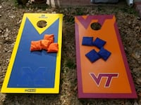 Michigan & Virginia Tech Cornhole w/bags Arlington, 22205