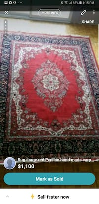 red, white, and black floral area rug Richmond Hill, L4C 1T7