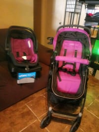 baby's black and pink travel system Baytown, 77521