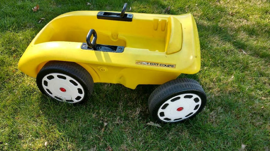 Used Little Tikes Vintage Yellow Sports Coupe Convertib