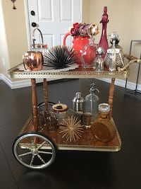 Hollywood regency Italian bar cocktail tea cart WITH EVERYTHING ON IT! Palmdale, 93551