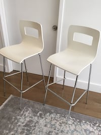 Two white counter chairs New York, 10018