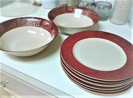 Nine $30 in Total plates + 2 Big Salad/Pasta Bowls from Pier 1 Imports