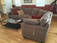 Micro fiber suade sectional sofa with throw pillows Apollo Beach, 33572