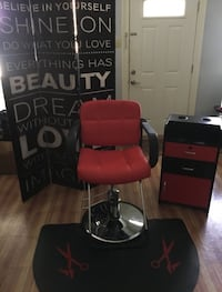 red and black salon chair Frisco, 75034