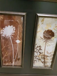 white and brown flower painting Surrey, V3W