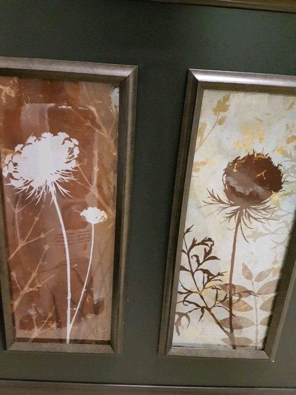 white and brown flower painting