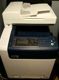white and blue Xerox WorkCentre 6505 photocopier m