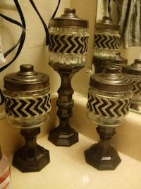 two brown wooden candle holders College Station, 77840
