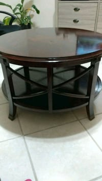 round brown wooden side table Spring Hill