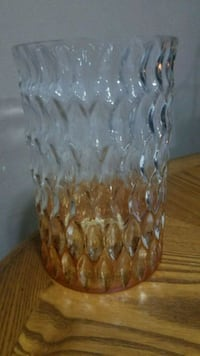 Beautiful clear in amber colored glass container Youngstown, 44515