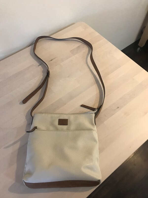 Women's white and brown sling abg