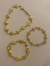 3- new yellow colored fashion jewlrey located off lakemead and jones Las Vegas, 89108