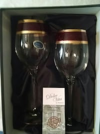BEAUTIFUL  Pair of Handmade ITALIAN Wine Glasses Thurmont, 21788