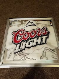 Great condition Coors Light mirror hang up Covington, 70435