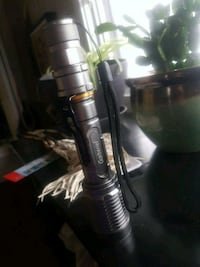 Gabriel high power flashlight with rechargeable batteries