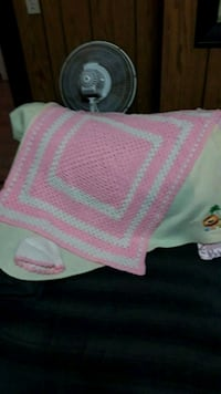 Baby blanket with matching hat