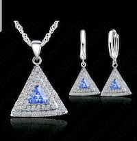 $12 NEW silver plated CZ necklace set  Ballwin, 63021