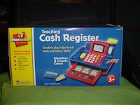 Cash register for child play has a scaner and makes noise as your scanning items Canal Winchester