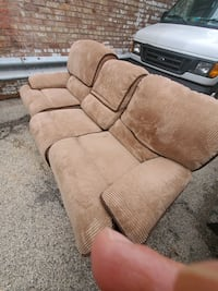 two recliner sofa and loveseat in perfect condition