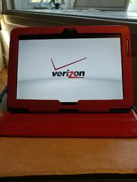 black and red Verizon android tablet