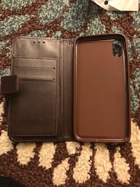 Iphone x(10) leather wallet case luxury