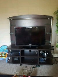 Espresso wooden TV wall unit  Edmonton, T5H 3A4