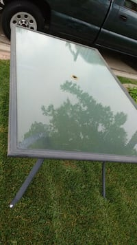 Glass top table  Hamilton