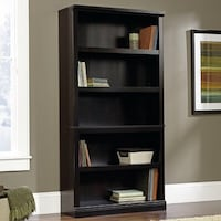 Black wooden 5-layer shelf Clearwater, 33756